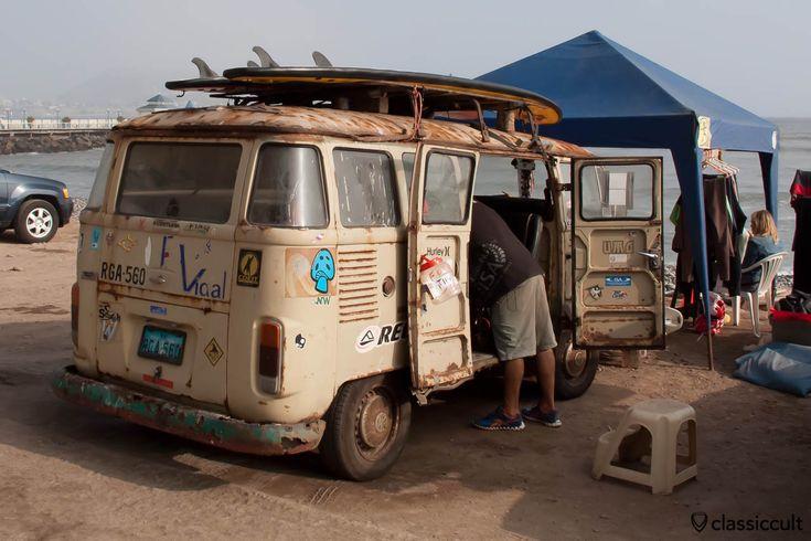 vw bay split t1 5 surf bus miraflores beach lima peru 2013. Black Bedroom Furniture Sets. Home Design Ideas