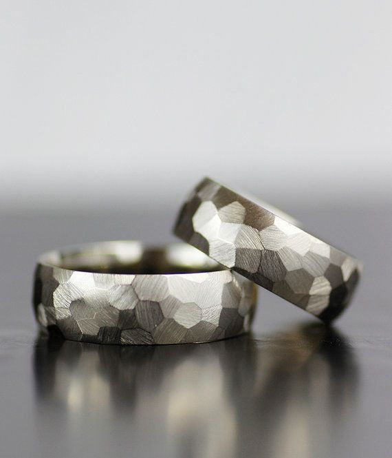 Image of faceted wedding band