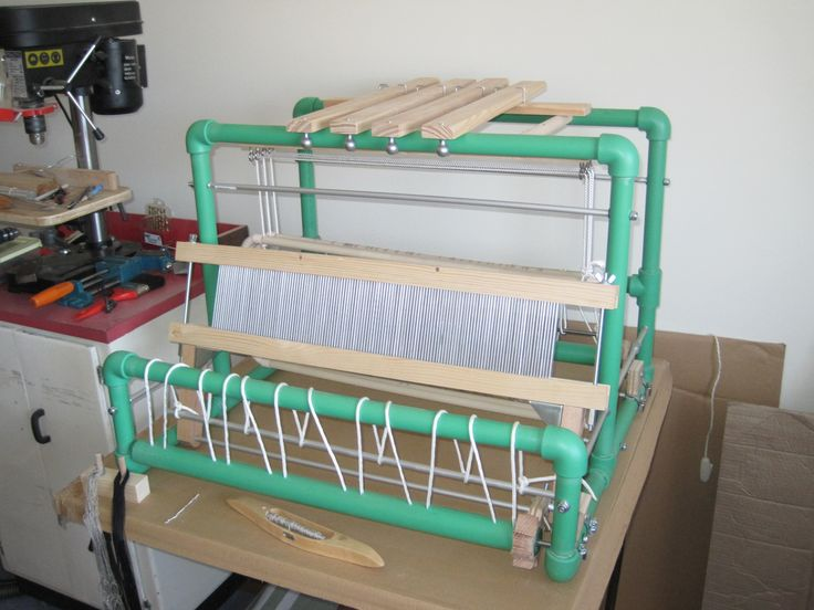 This is my pvc loom made from plans on internet plus a few ideas of my own