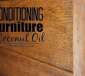 Use of coconut oil to refinish old wood