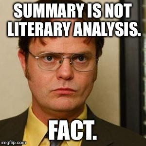 Meme about literature.