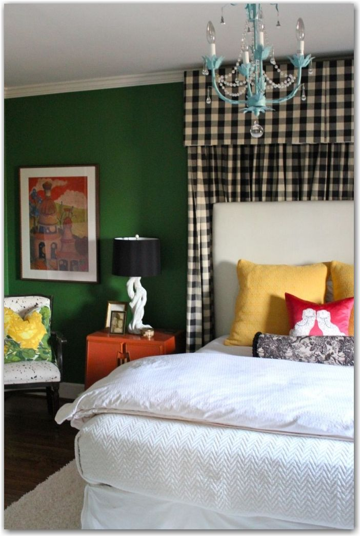 """This colorful guest room before-and-after will inspire you to have """"guts"""" when tackling a redecorating project! {via www.tphblog.com }"""