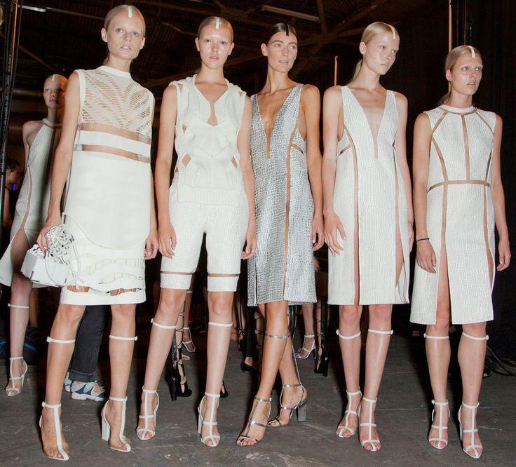 la modella mafia Alexander Wang Spring 2013 Cut Outs Trend backstage