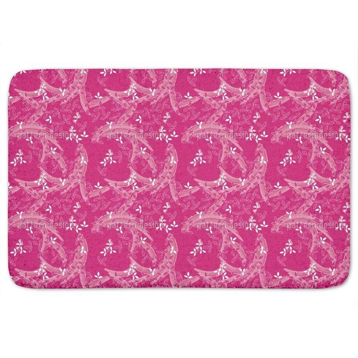 Uneekee Bush Clover Asia Pink Bath Mat