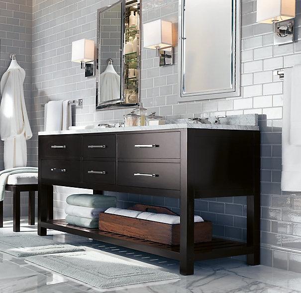 Best 25 dark vanity bathroom ideas on pinterest dark for Restoration hardware vanities bath