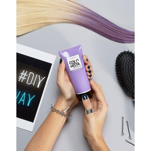 L'Oreal Paris Colorista Wash Out Hair Colour - Purple ($7.29) ❤ liked on Polyvore featuring beauty products, haircare, hair color and purple