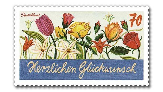 """Am 2. Mai gibt die Deutsche Post drei Briefmarken zum Thema """"Schreibanlässe"""" heraus. Die drei 70 Cent-Marken waren nicht im Ausgabeprogramm für 2016 angekündigt und sind offenbar der Start einer neuen Dauerserie."""