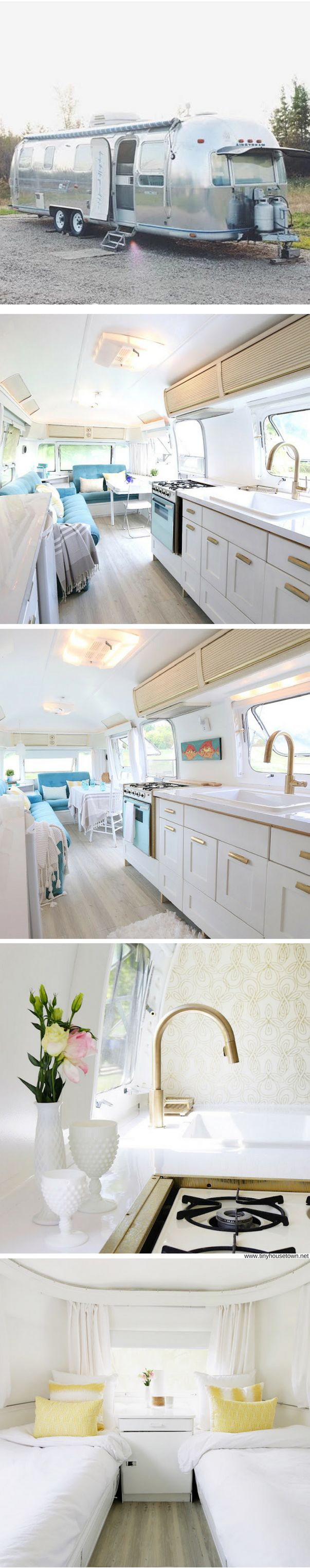 A converted 1976 Airstream trailer