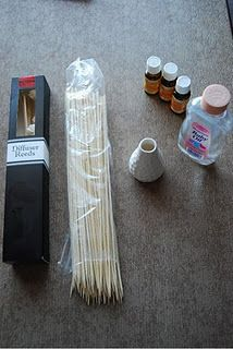 DIY Reed Diffuser - EASY recipe with baby oil instead of other carrier oils.