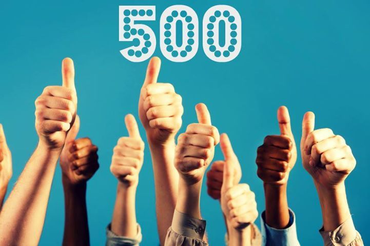 we are so excited  we have reached the 500 likes on  facebook  we promise to continue giving you