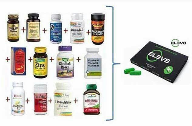 ELEV8 replaces a vast amount of singular capsules with 1 single little green pill! www.bepicelev8.com/vanessaschoen