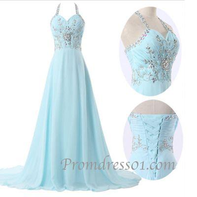 Elegant long prom dress with straps, ball gowns wedding dress sweetheartdress.s... #coniefox #2016prom