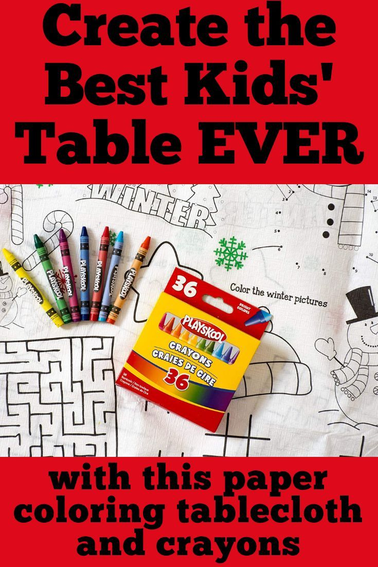 create a memorable kids' table at your christmas gathering with this