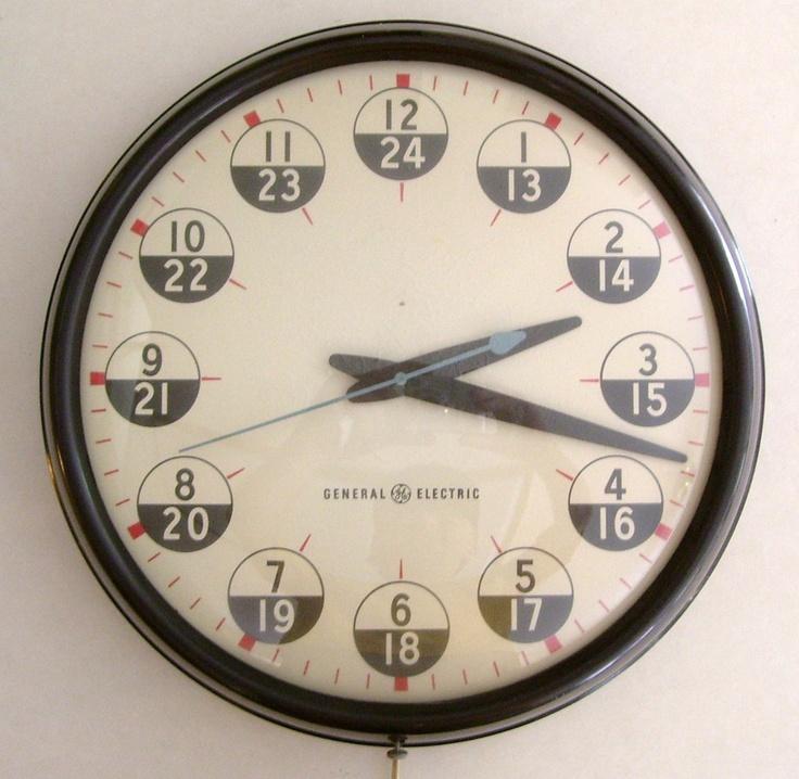 // vintage GE wall clock: