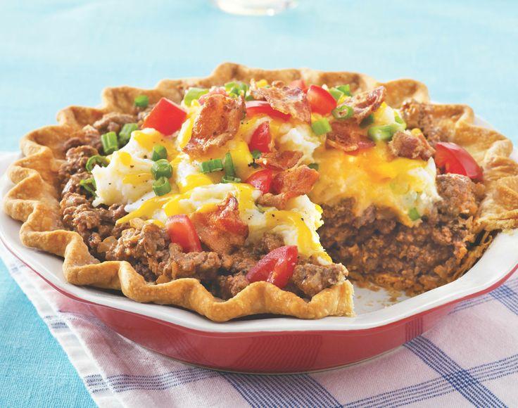 Ground Beef and Twice-Baked Potato Pie | Recipe