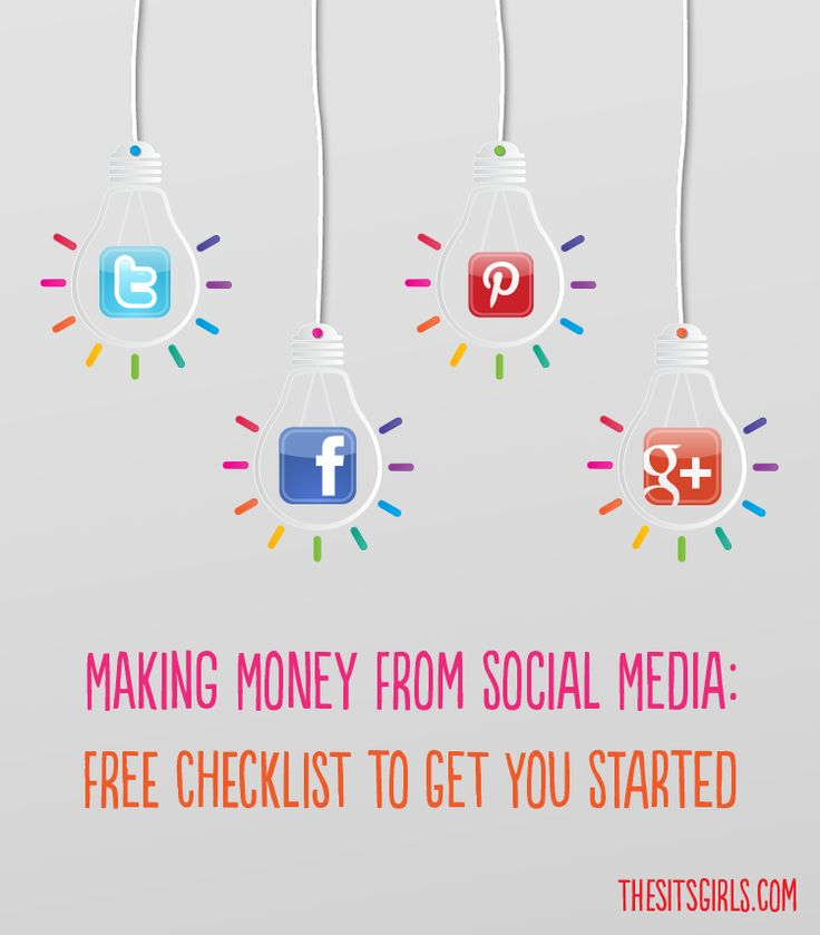 We have a free printable checklist to help you set up your blog and social media profiles so you can use them to make money.