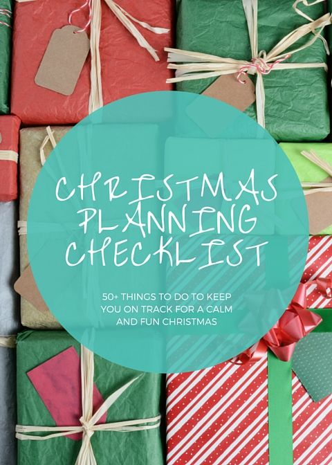Enjoy your festive season by pacing the workload with this free Christmas planning checklist. It has over 50 activities plus links to resources to help you complete them.