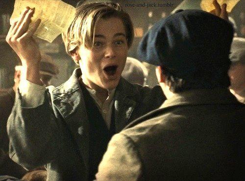Leonardo diCaprio - Titanic I won tickets for the unsinkable ship! I'm goin to America!