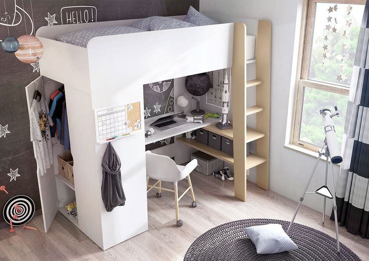 Happy room for kids #room #white #kids #bed #mirjan24