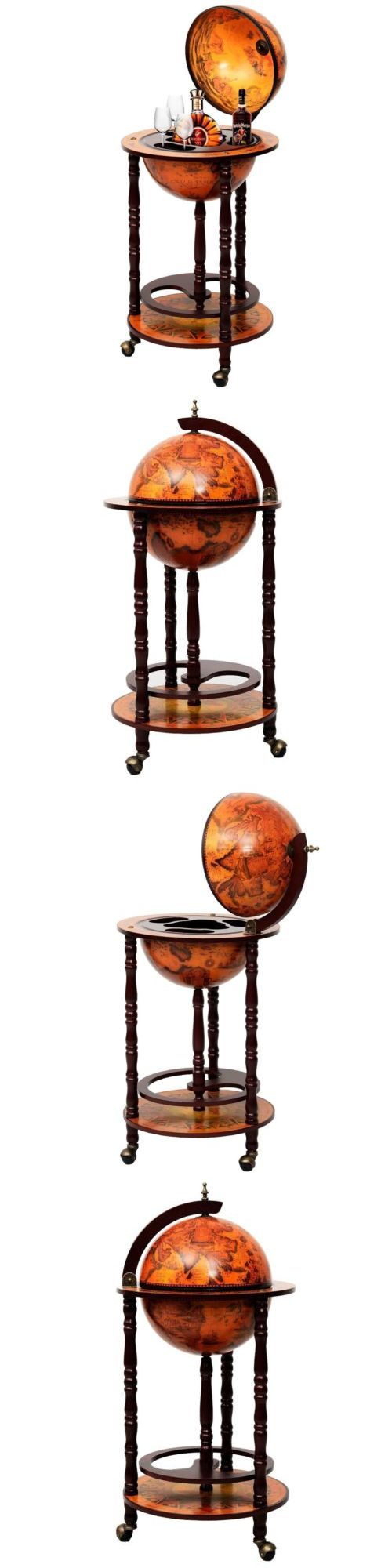 Bar Carts and Serving Carts 183320: New Old World Globe Rolling Wine Beverage Bar Serving Drink Liquor Cart Wooden -> BUY IT NOW ONLY: $99.99 on eBay!