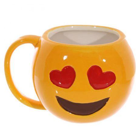 Mug emoji emoticon smiley sourire yeux coeur