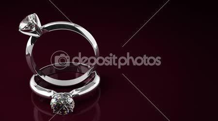 Diamantové prsteny — Stock video #18095889