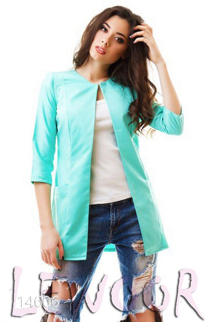 Удобный пиджак мэмори на застёжке - купить оптом и в розницу, интернет-магазин женской одежды lewoor.com