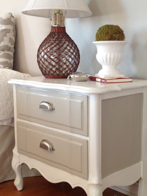 Lots of upcycle ideas. I really like the shape of this bedside drawer...need to find me something similar