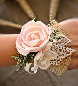 цветок на руку подружке невесты канзаши - Поиск в Google