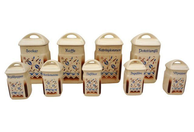 Swedish Spice Containers, S/9