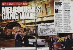 Melboune's Gang Wars - following murder of Lewis Moran on 31 March 2004.