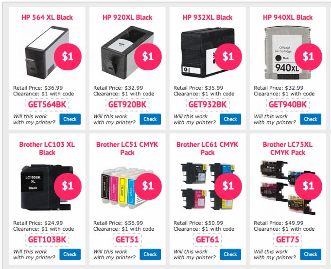 Cheap printer ink