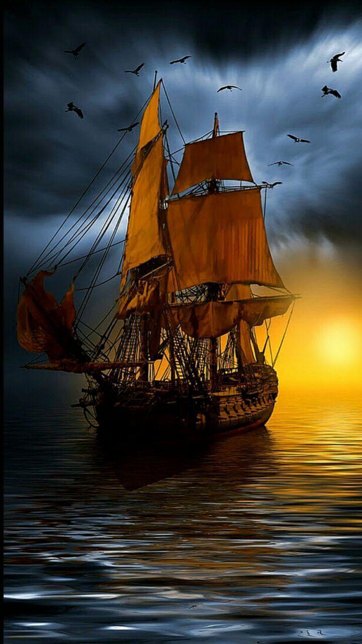 Les 25 meilleures id es de la cat gorie dessin bateau - Photo de bateau pirate ...