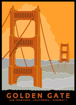 Golden Gate > California Highway 1 series || Jake Early. {can i please have them all}