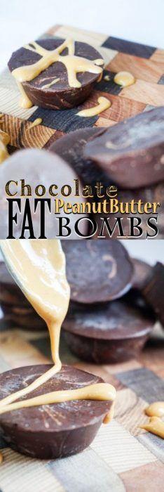 Chocolate Peanut Butter Fat Bombs! Intense dark chocolate fudge flavor!
