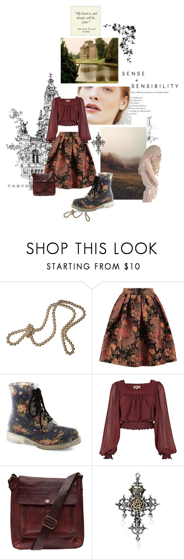 """""""A walk to Netherfield Park"""" by svenjadobbert on Polyvore featuring Mode, Maje, River Island, Campomaggi und vintage"""