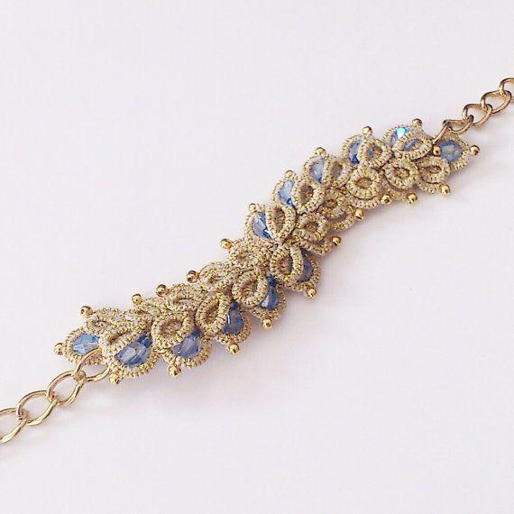 Bracciale oro pizzo tatted bracciale braccialetto di LaceLounge