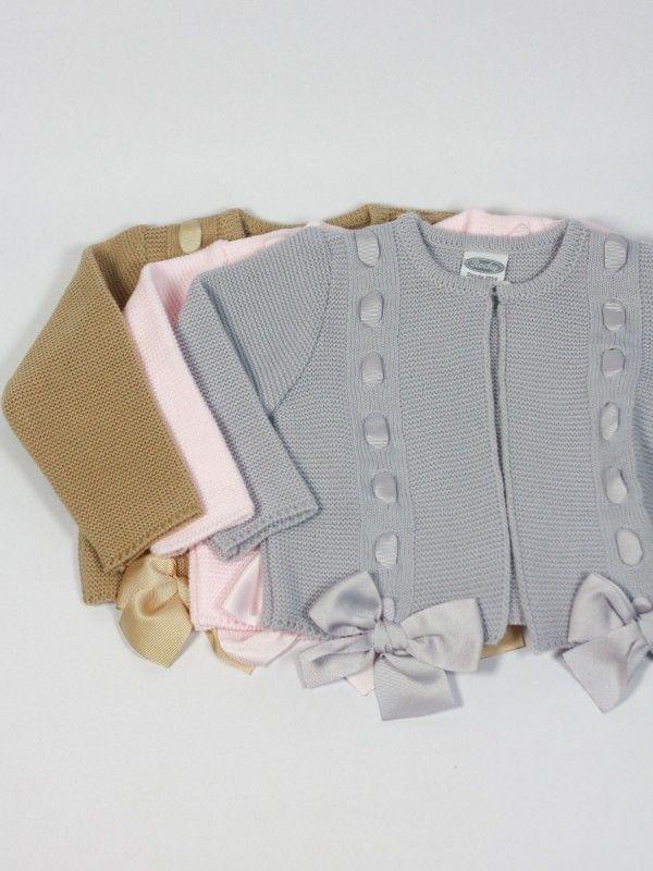 Ropa de bebe chaquetas punto rochy lazos ropa de beb - Lazos para bebes ...