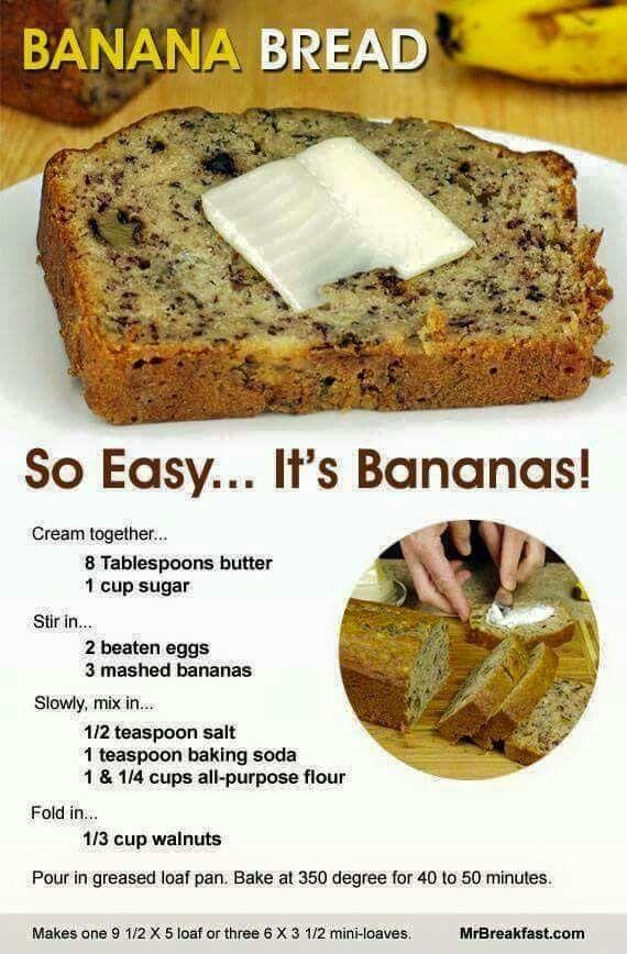 Banana bread, no flour
