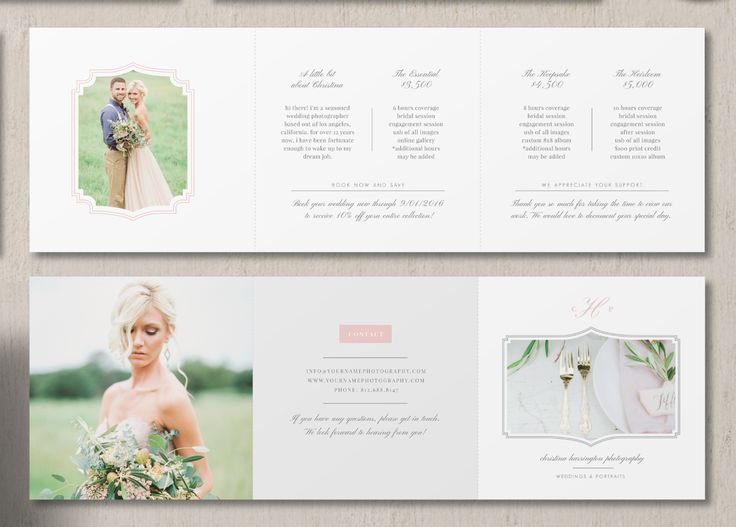 The 8 best images about menu on Pinterest Design, Photographers - wedding brochure template