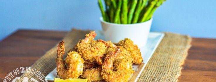 Parmesan (Ezekiel Bread) Popcorn Shrimp | Fit Men Cook. I used wheat germ since I didn't have the bread