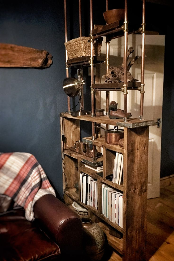 Scaffolding Plank Room Divider Bookcase Thing I Ve Used 22mm Copper Plumbing Pipe And