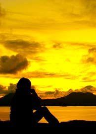 Midnight sun on the coast of Helgeland, Norway - Photo: Liv Ask/ Mathis Ståle Mathisen