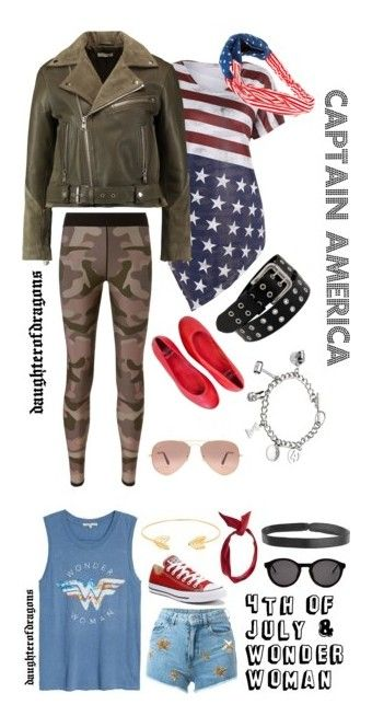 """""""Casual Superhero"""" by daughterofdragons on Polyvore featuring Ganni, Ultracor, Marvel, Paolo Shoes, Ray-Ban, marvel, Junk Food Clothing, Chiara Ferragni, Converse and Lord & Taylor"""
