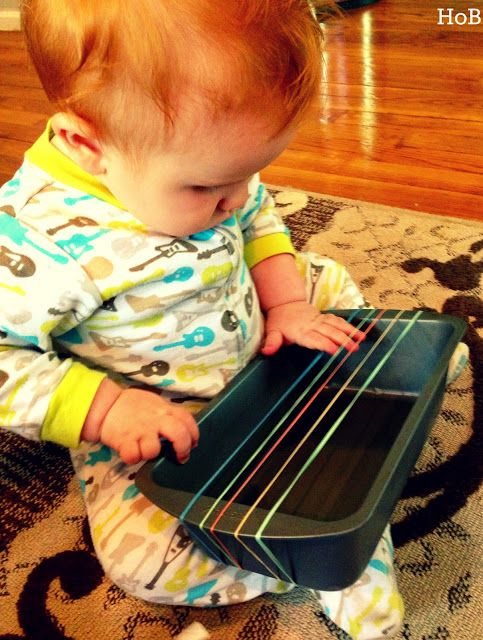 ROCK-a-bye: Exploring the Guitar with Baby - DIY guitar for fine motor skills