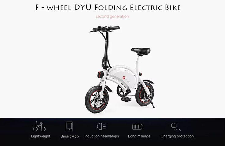 F-Wheel DYU D2 una mini bici eléctrica para competir con los patinetes