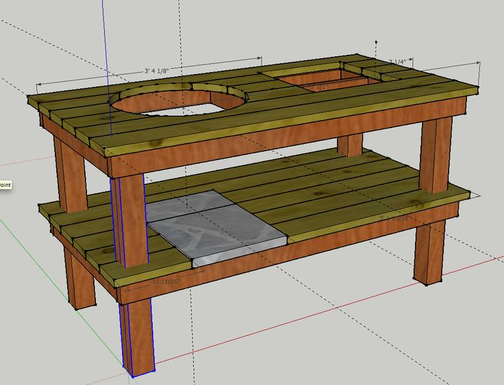 build a weber grill table | Grill table for the bsk2000