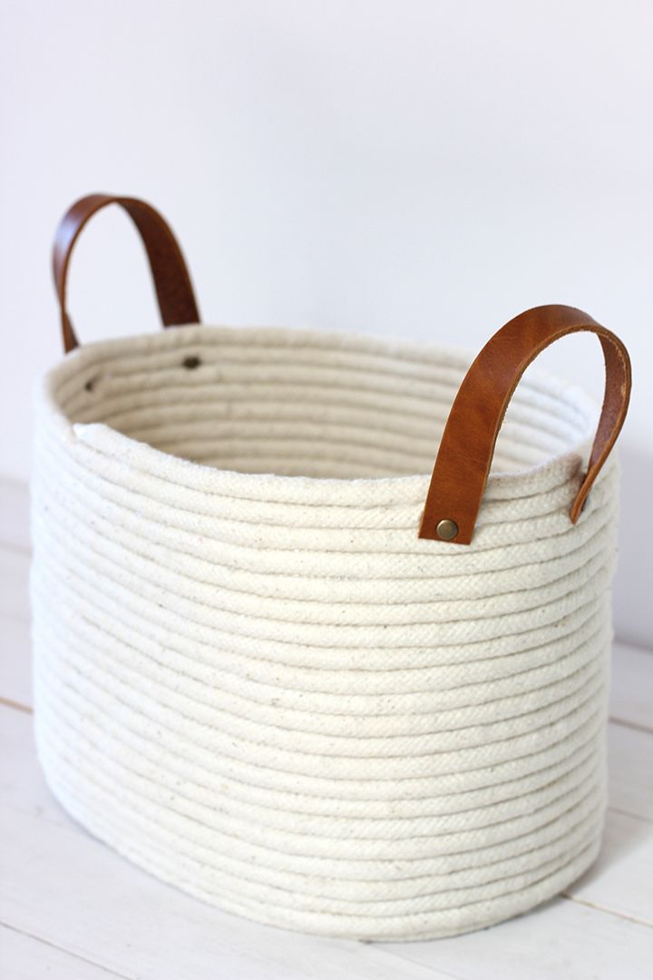 DIY: no-sew rope coil basket