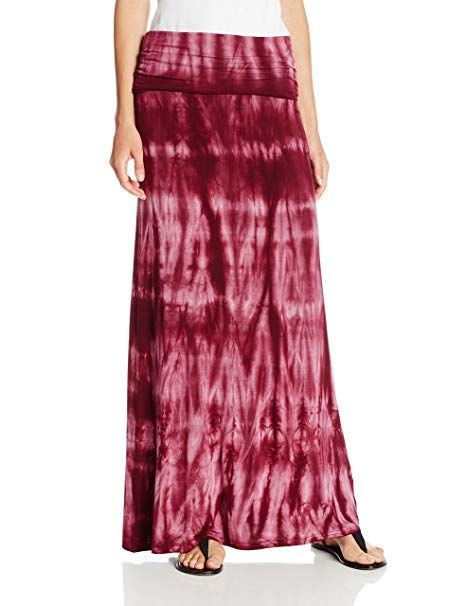 e9400816070b Roxy Juniors Star Crossed Jersey Tie Dye Knit Maxi Skirt, Stretched Grape  Wine Tie Dye