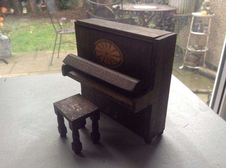 Rare vintage dolls house miniature pit- a- pat piano.c.1930 with label u0026 stool & 320 best Pit-a-Pat Dolls house Furniture. images on Pinterest ... islam-shia.org